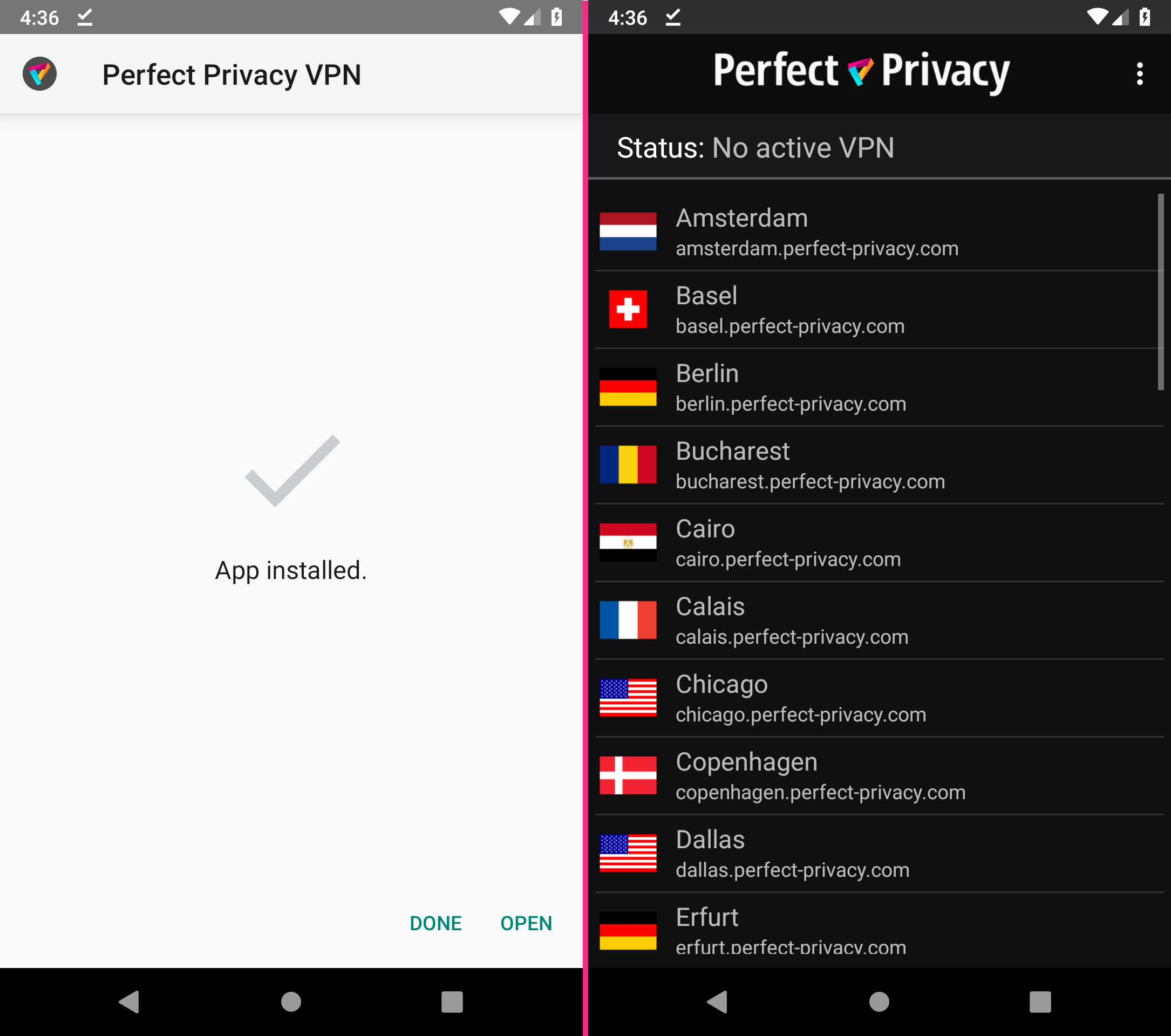 Perfect Privacy VPN App for Android: Download & Install  apk