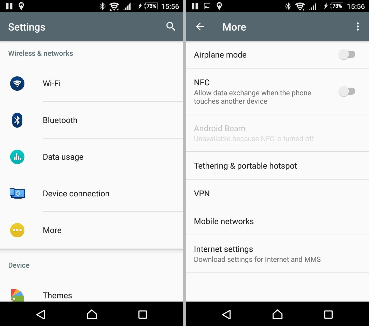 Settings -> More | Always-On VPN with Android