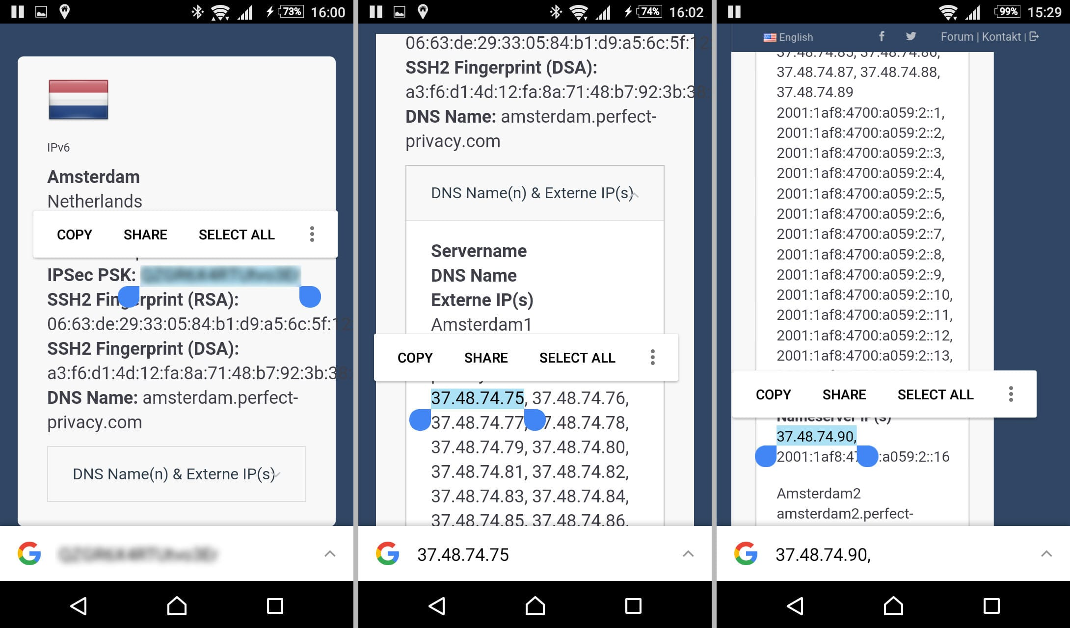 Perfect Privacy Server IP and PSK | Always-On VPN with Android