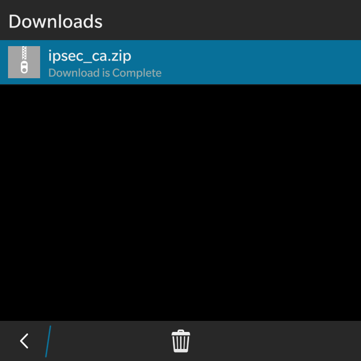 Download the ipsec_ca.zip file | VPN on BlackBerry OS