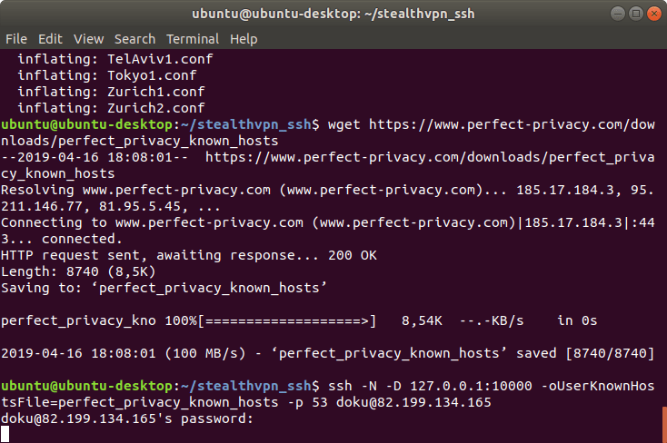 SSH acts as a SOCKS proxy | Stealth VPN on Linux (OpenVPN & SSH)