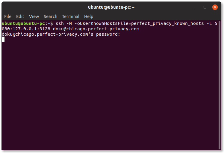 Using SSH in the terminal to provide an HTTP proxy | Using SSH in the terminal (Linux)
