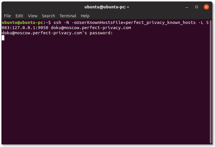 Using SSH in the terminal to provide a Tor proxy | Using SSH in the terminal (Linux)