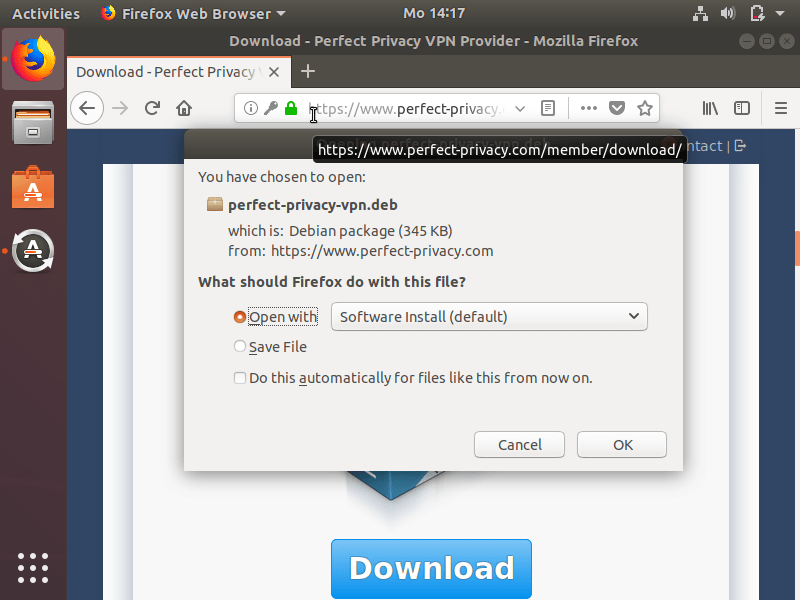Perfect Privacy VPN Software with Ubuntu | Perfect Privacy