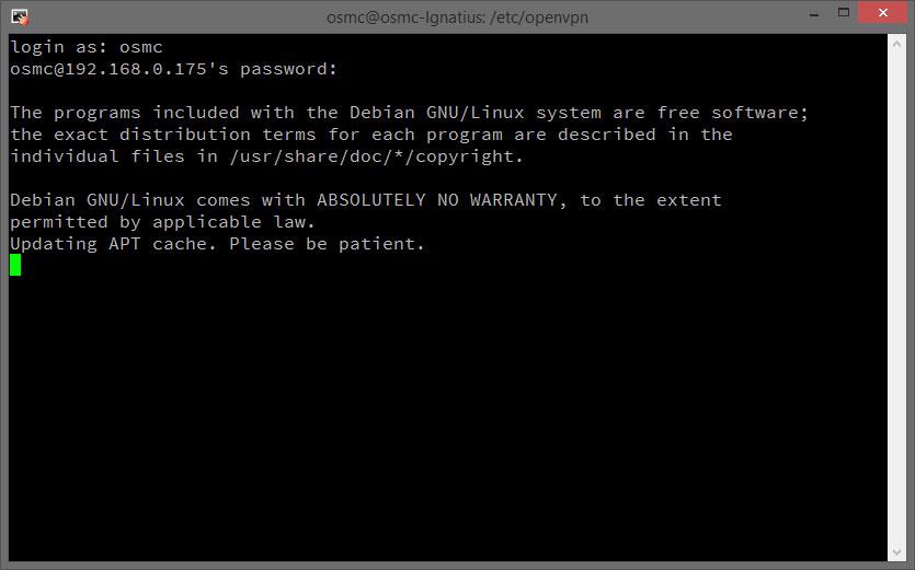 Open Source Media Center (OSMC) on a Raspberry Pi with VPN