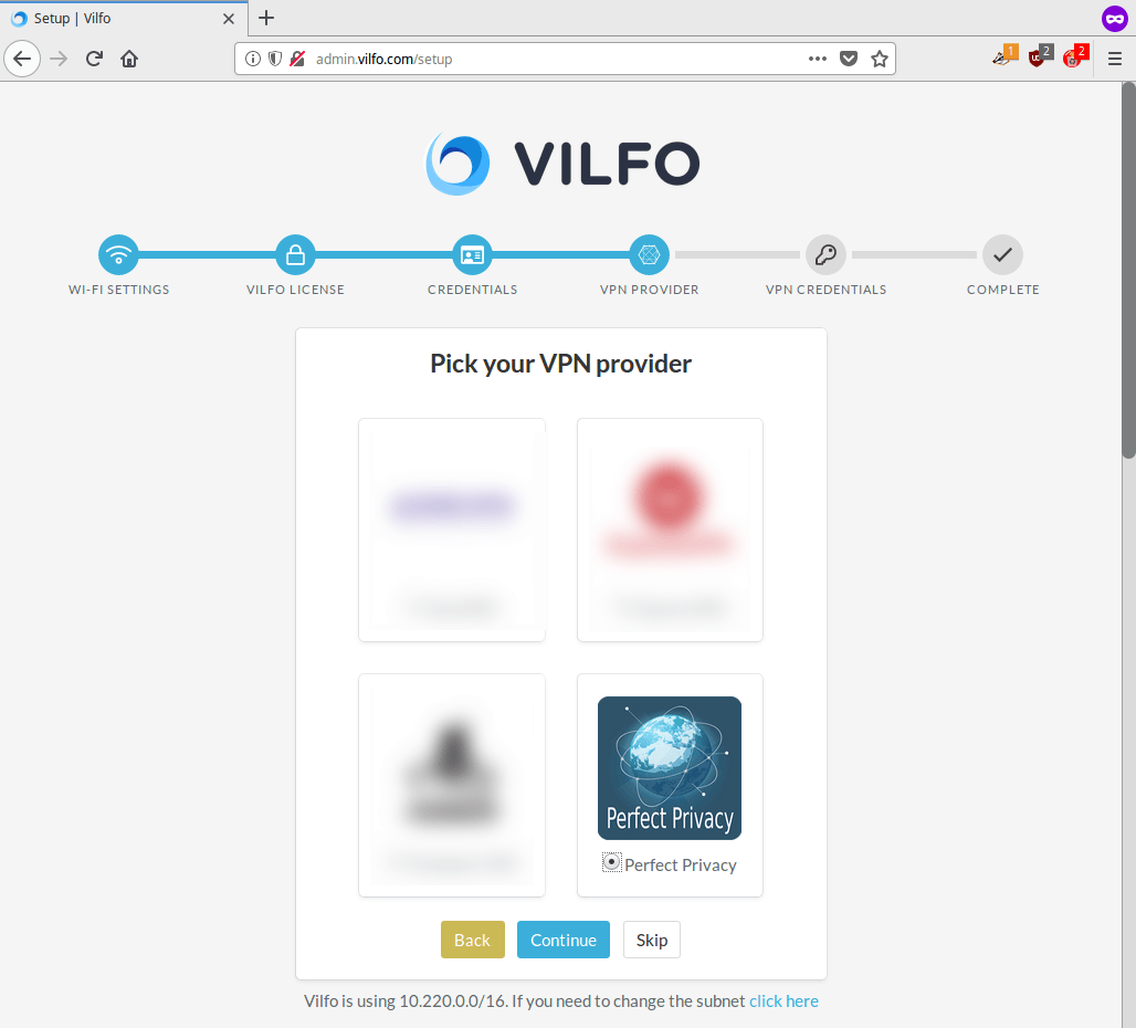 Vilfo router - VPN Provider: Choose Perfect Privacy as VPN provider | Perfect Privacy VPN for Vilfo Routers
